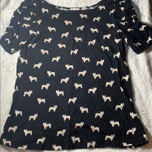 Tops - Postmark French bulldog Anthropologie shirt